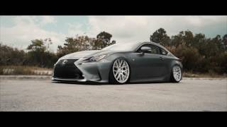 Bagged Lexus RC350 F-Sport on Velgen Wheels VMB7