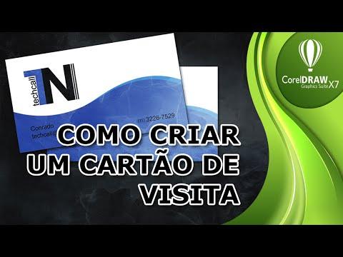 Como Criar um Cartão de Visita no CorelDraw X7   Conceito Basico
