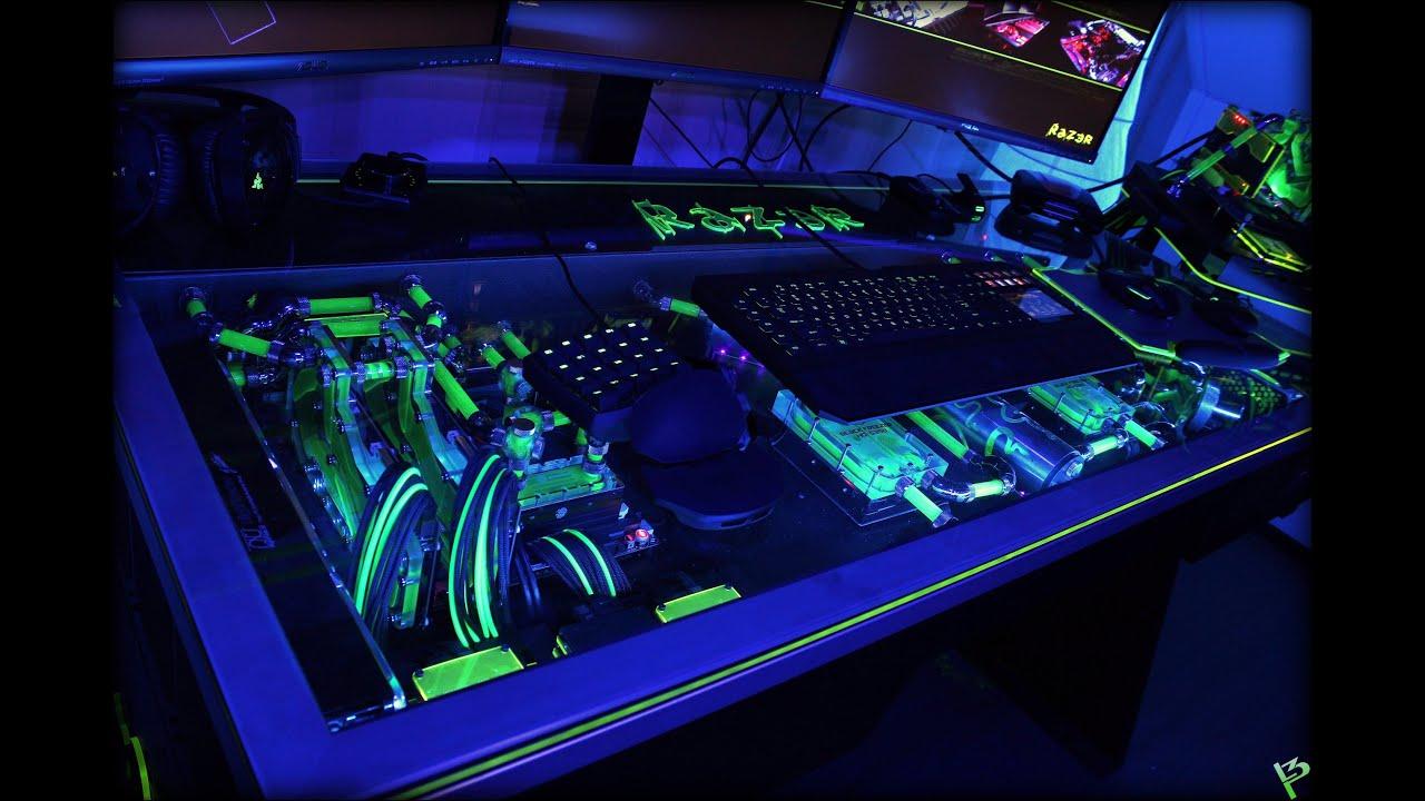 Raz3r D3sk Final Video Gaming Desk Pc Build By L3p