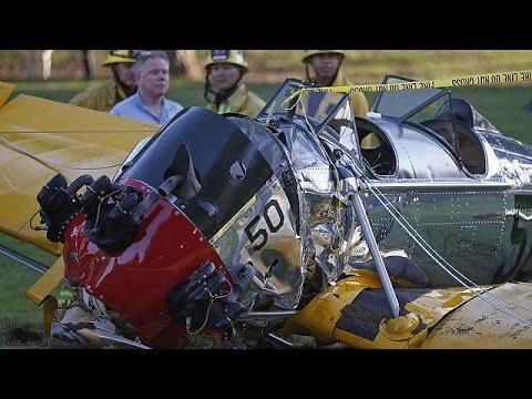 Battered but OK': Harrison Ford recovers after crashing vintage plane