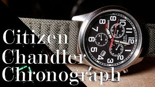 Citizen Chandler Chronograph Review : Solar on a Budget ( AT0200-05E )