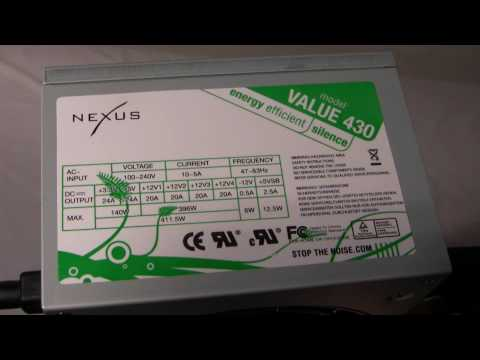 Product Video: Nexus Value 430 430 Watt Power Supply - XStreamPCReviews