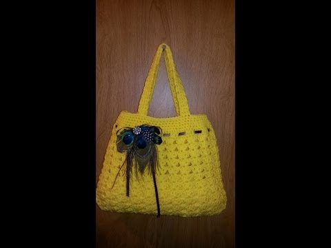 Fun Idea For Diy Crochet   Handbag Lovely Purse  Tutorial Handmade Crochet Bag Craft Idea