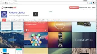 Como descargar y utilizar Rainmeter 2015 + Honeycomb