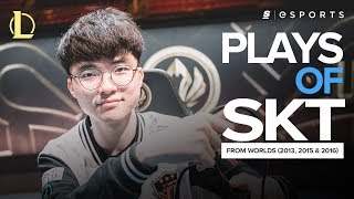 The BEST SK Telecom T1 plays from Worlds (2013, 2015, 2016) ft. Faker, Impact and Marin