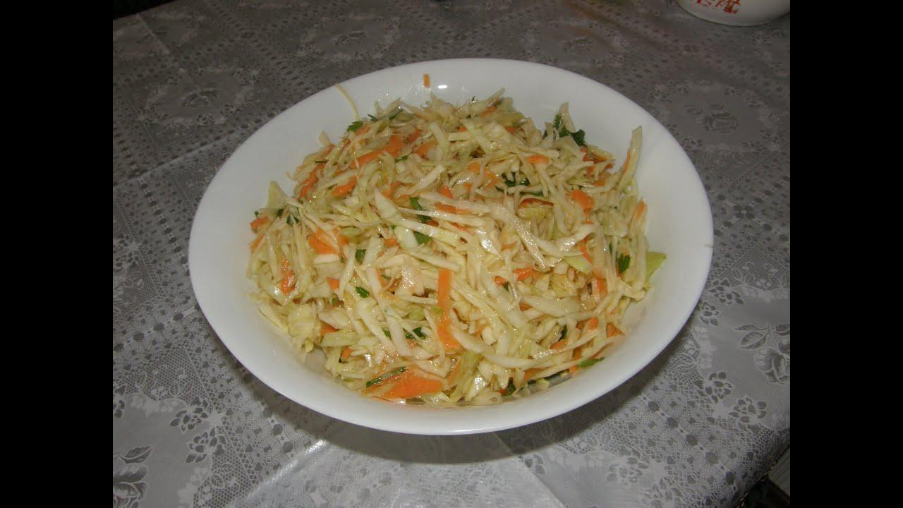 Салаты из капусты с уксусом рецепты простые и вкусные