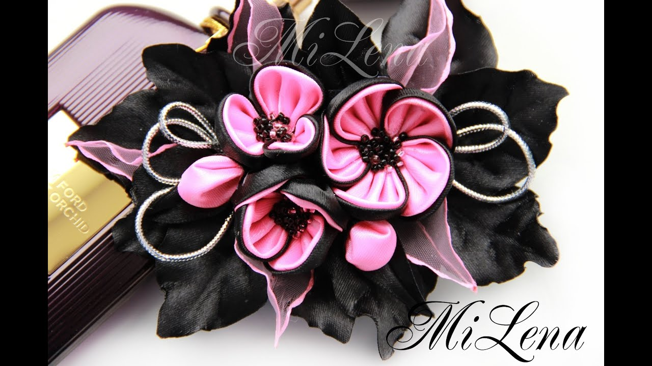 Цветы из лент мастер класс цветы для заколки мастер класс