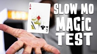 Sleight Of Hand in SLOW-MOTION - Can it FOOL The Camera?! (120 FPS)
