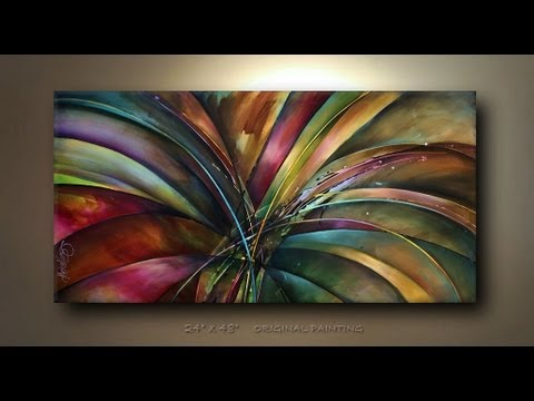 Abstract Painting 'Lilys Song' Abstract art full demo.