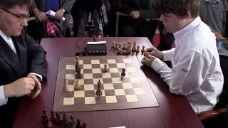 Beautiful Tactical Endgame - Magnus Carlsen Crushes Evgeny Tomashevsky | Blitz Chess Tal 2012