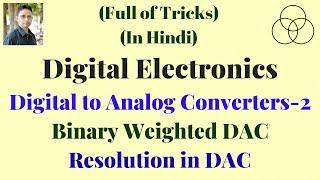 Binary Weighted DAC (Digital Electronics-66) by SAHAV SINGH YADAV