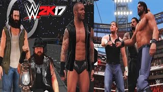 WWE 2K17-The Shield Reunite and Face The Wyatt Family & Randy Orton -6 Man Tag Team Match(PS4)
