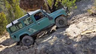 Land Rover Defender tackling Farmers Creek
