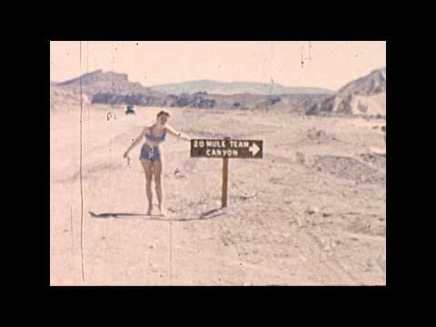 Found 8mm Film Loop - 1960s Bikini Girl in Death Valley
