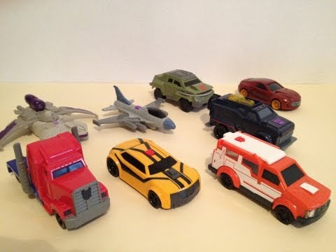MCDONALDS TRANSFORMERS PRIME HAPPY MEAL TOYS - 2012 FULL SET REVIEW