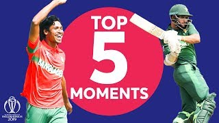 Mustafizur? Imam?  | Pakistan v Bangladesh - Top 5 Moments | ICC Cricket World Cup 2019
