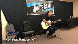 "Nrees Xyooj singer from Hands Band singing live ""Kuv Yuav Handsome"" acoustic 👍🎤🎸"
