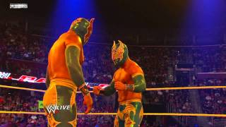 Raw - Sin Cara's match with Cody Rhodes is interrupted by a second Sin Cara