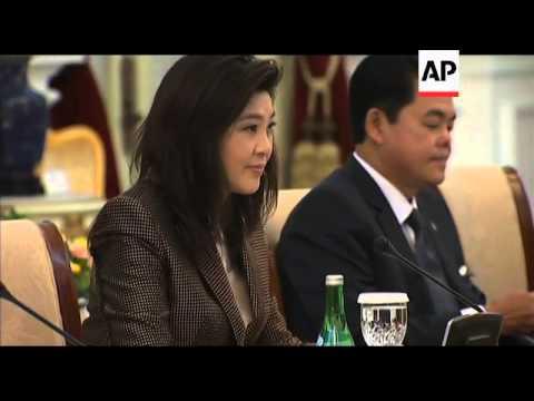 SBY meets counterpart Yingluck Shinawatra