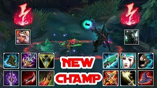*NEW CHAMP* Qiyana vs Morde Full Build Fights
