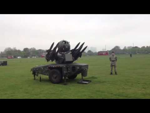 Rapier missiles in blackheath
