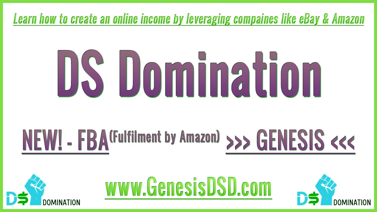 DS Domination – Genesis Ultimate FBA Course