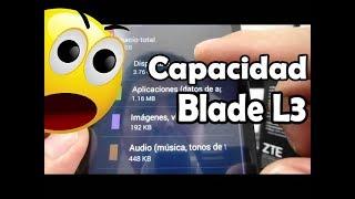 ZTE Blade L3 Capacidad De Almacenamiento Real Español