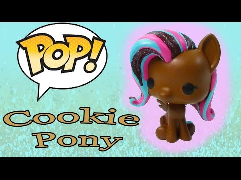DIY Custom POP Vinyl My Little Pony MLP Fluttershy Painted Chocolate Cookie Glitter Toy Cookieswirlc