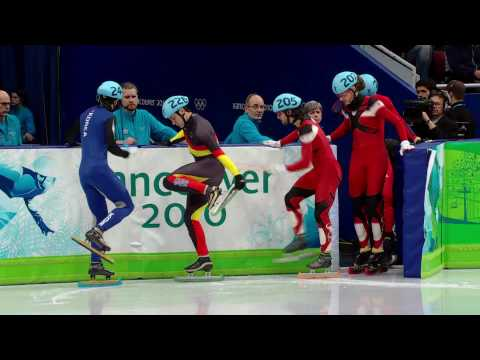 Hamelin (CAN) Wins 500m Short Track Speed Skating Gold - Vancouver 2010 Winter Olympics