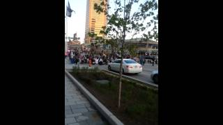 Freddie Gray Protest at the Baltimore Inner (Harbor) Wed Night April 22