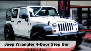Spyder Auto Installation: 2007-2013 Jeep Wrangler 4-Door Step Bars