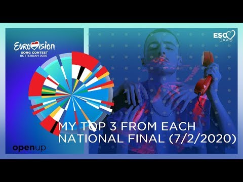 MY TOP 3 FROM EACH NATIONAL FINAL (07.02.2020) | Eurovision Song Contest 2020
