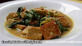 Keto Curried Tofu with Spinach - Tofu And Spinach Recipes