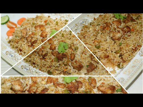 Chicken Fried Rice Recipe! - Restaurant Style | Indo Chinese Recipe - English Subtitle