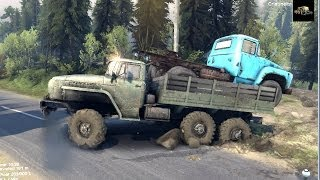 SPINTIRES Full Version Preview - Loading the B 130 Truck in the Ural Truck and Transporting it