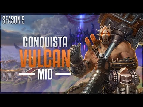 Vulcan MID | Fire in the Hole! - Ranked Conquista | Smite Season 5 (PT-BR)