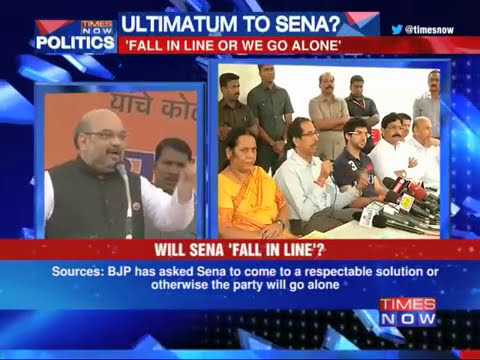 BJP gives 12 hr ultimatum to Shiv Sena?