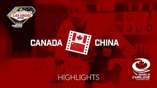 HIGHLIGHTS: Canada v China - Round-robin - 361 World Mens Curling Championship 2018