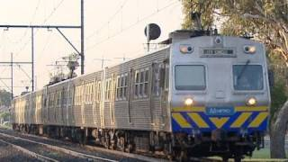 Hitachi Heaven! Metro Trains Melbourne Electric Suburban Passenger Trains Near Huntingdale - PoathTV