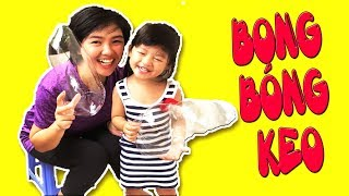 TRÒ CHƠI THỔI BONG BÓNG KEO CỰC VUI  -  HOA CHANH TV -  BLOW GEL BALLOONS