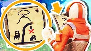 SECRET TREASURE MAP IN FORTNITE: BATTLE ROYALE!!!