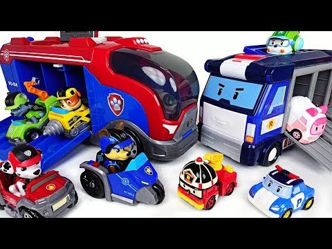 We need a moving base! Paw Patrol Mission Cruiser and Robocar Poli Mobile Headquarter! - DuDuPopTOY