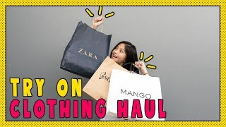 Try On Clothing HAUL Zara, Stradivarius, dan Mango
