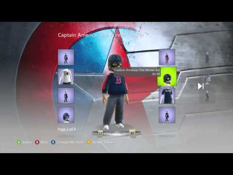 Captain America The Winter Soldier Xbox Live Avatar Items