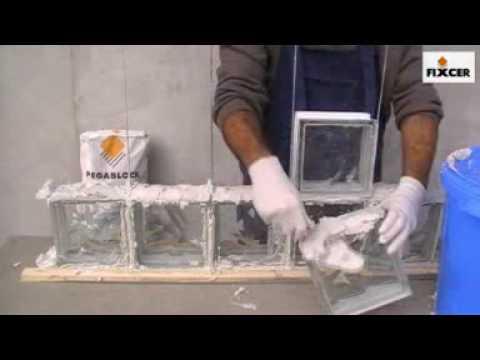 Pegablock fixcer products youtube - Como colocar ladrillos de vidrio ...