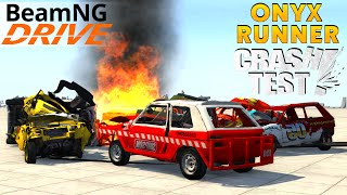 BeamNG Drive Onyx Runner Crushing Cars