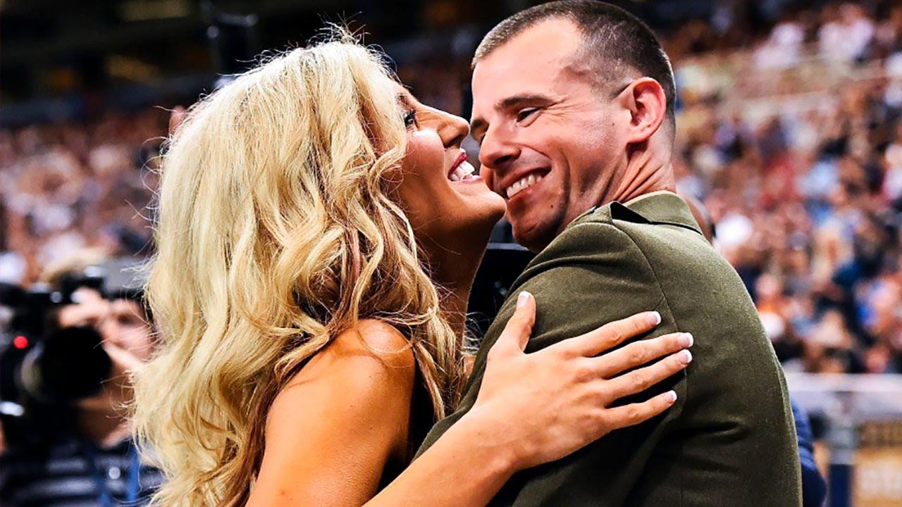 Rams Cheerleader Surprised by Marine Husband Returning From Deployment