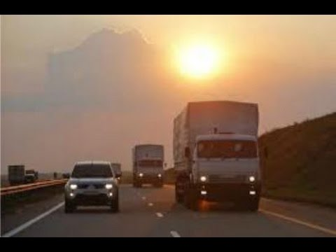 8/13/2014 Russian Humanitarian Aid Convoy heads to E. Ukraine under agreement with Kiev