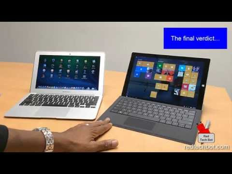 The 11 Inch MacBook AIr versus Surface Pro 3 Review