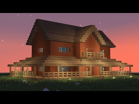 MINECRAFT: How to build big wooden house #5